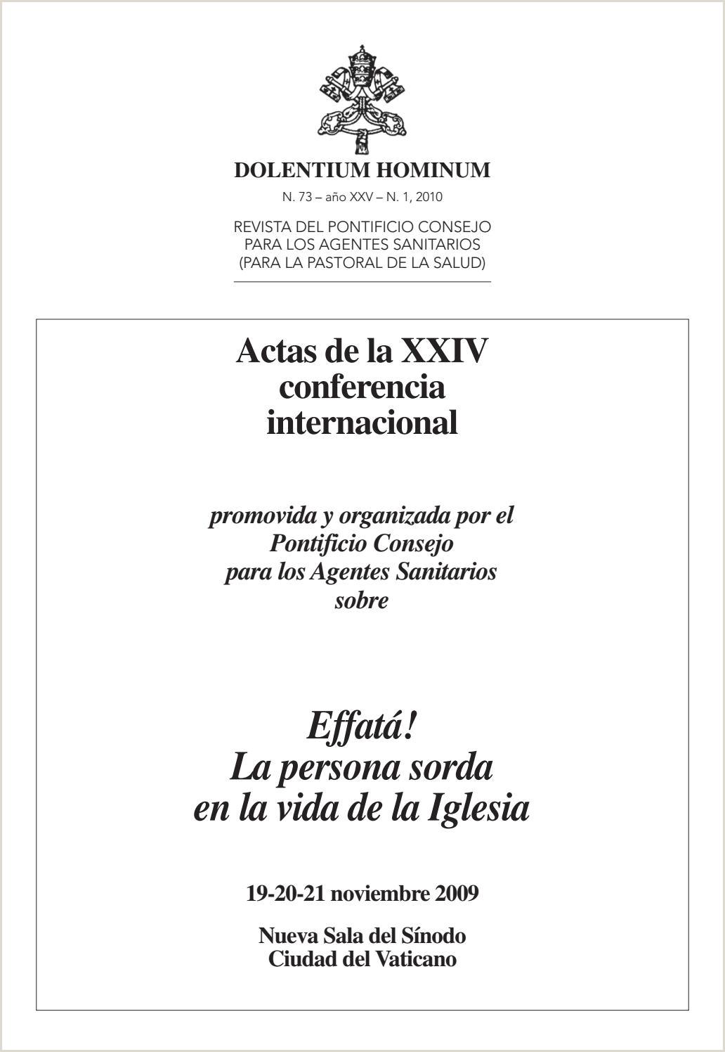 Conferencia Internacional la Persona Sorda en la vida de la