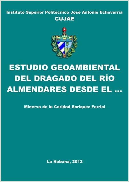 Formato De Hoja De Vida Minerva Sencilla Estudio Geoambiental Del Dragado Del Ro Almendares Desde El