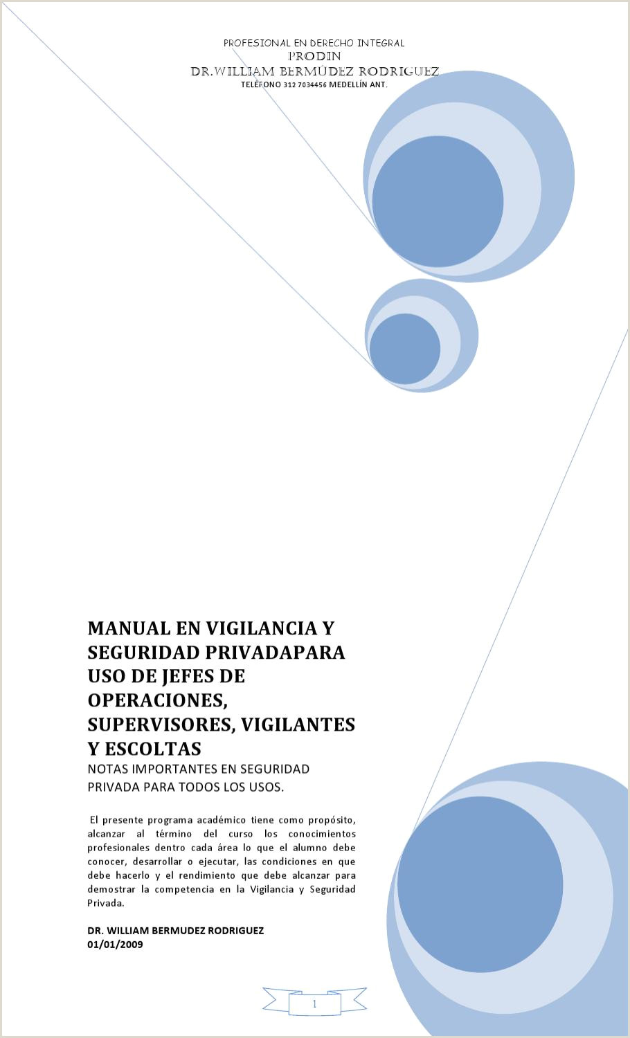 Formato De Hoja De Vida Minerva Sencilla Para Descargar Manual De Vigilancia Y Seguridad Privada by William Bermudez