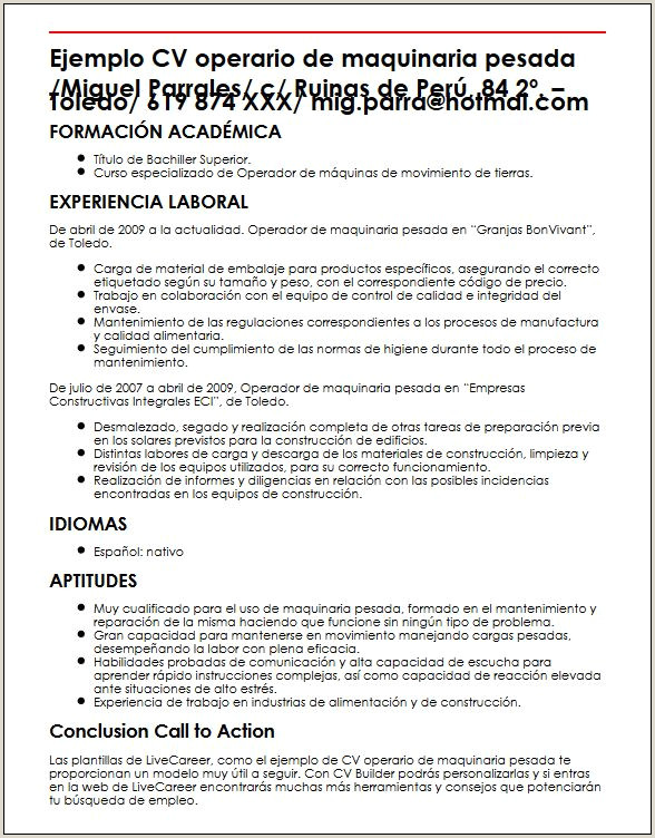 Formato De Hoja De Vida Minerva Word Modelo De Curriculum Vitae Operario Modelo De Curriculum Vitae