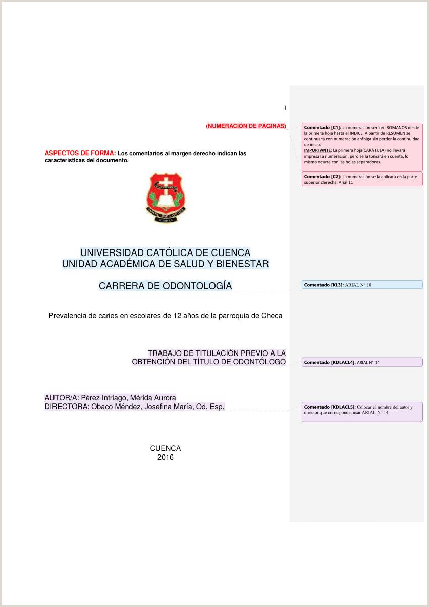 PDF FORMATO DEL INFORME FINAL DE TESIS ODONTOLOGA 2016