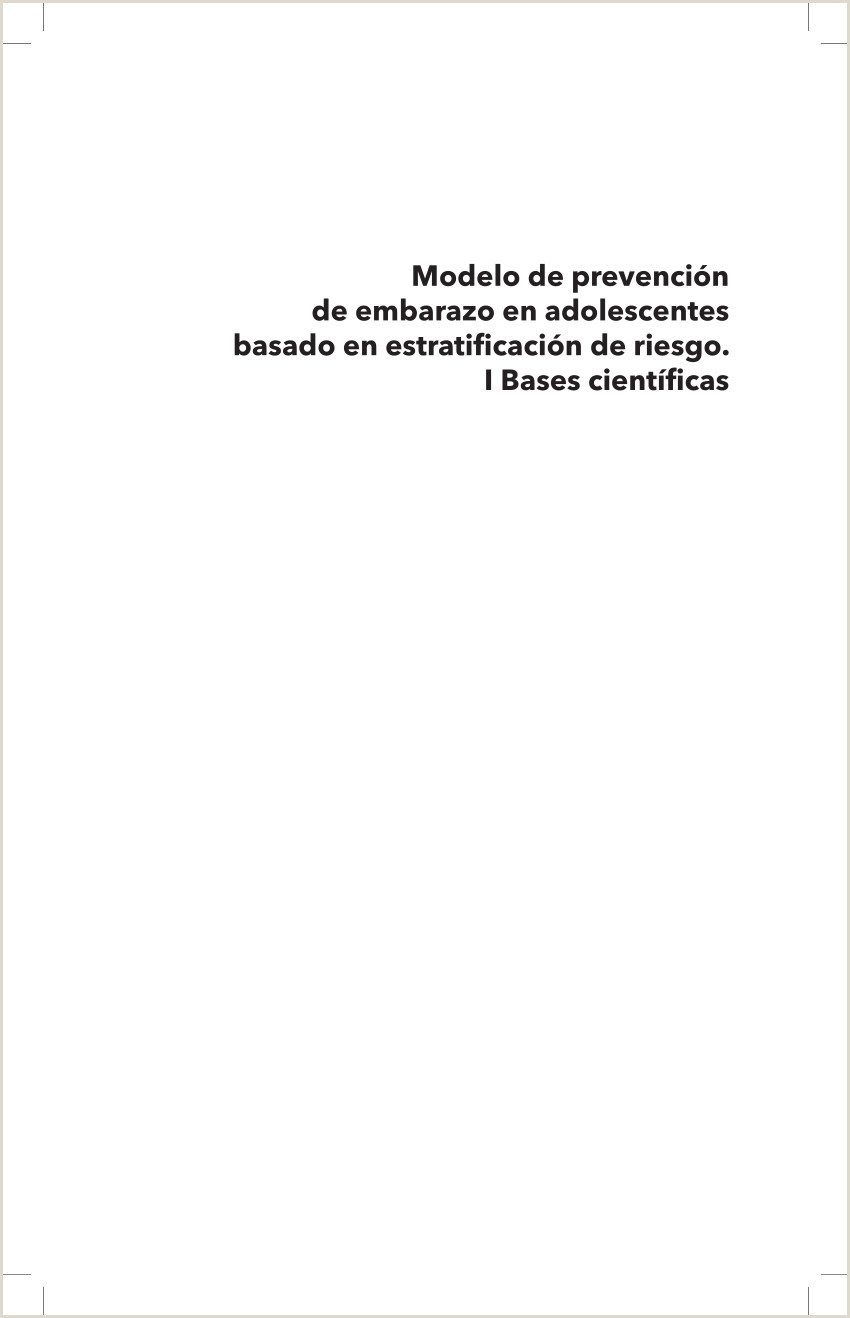 """PDF MODELO DE PREVENCI""""N DE EMBARAZO EN ADOLESCENTES BASADO"""