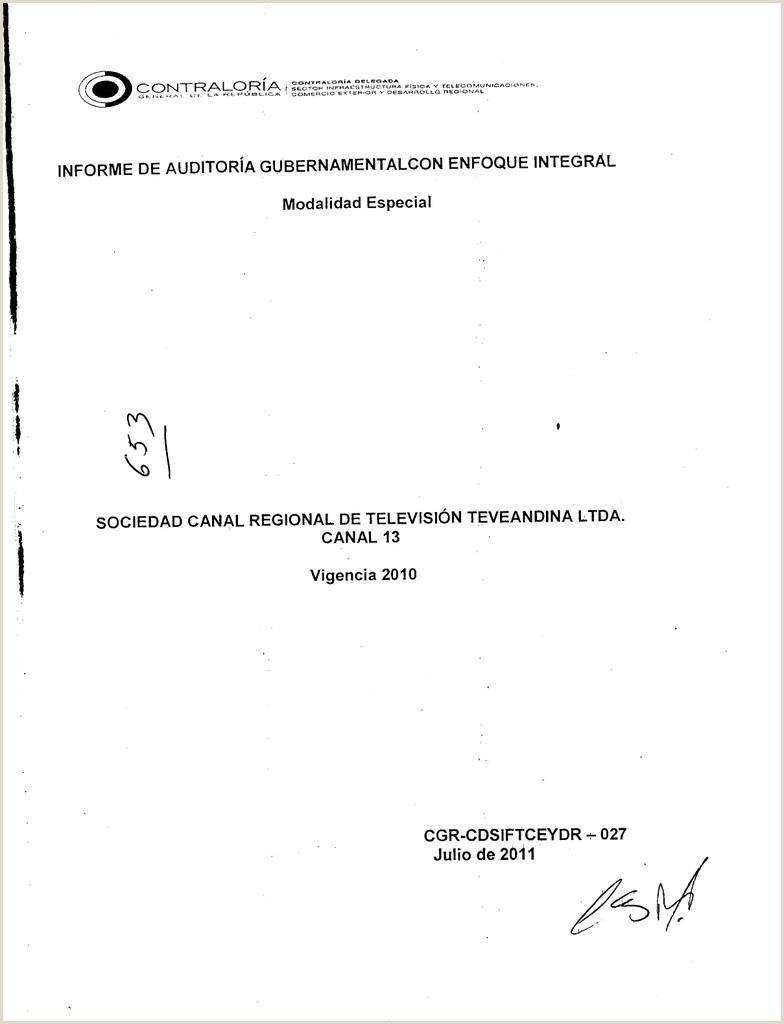 INFORME 027 TEVEANDINA Contralora General de la