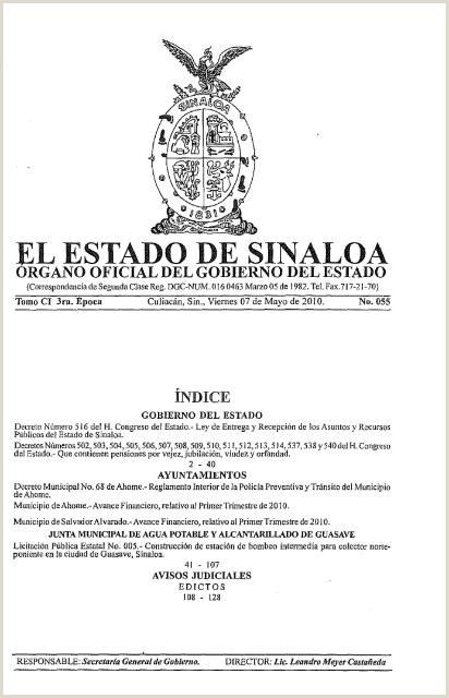 EL ESTADO DE SINALOA Orden Jurdico Nacional