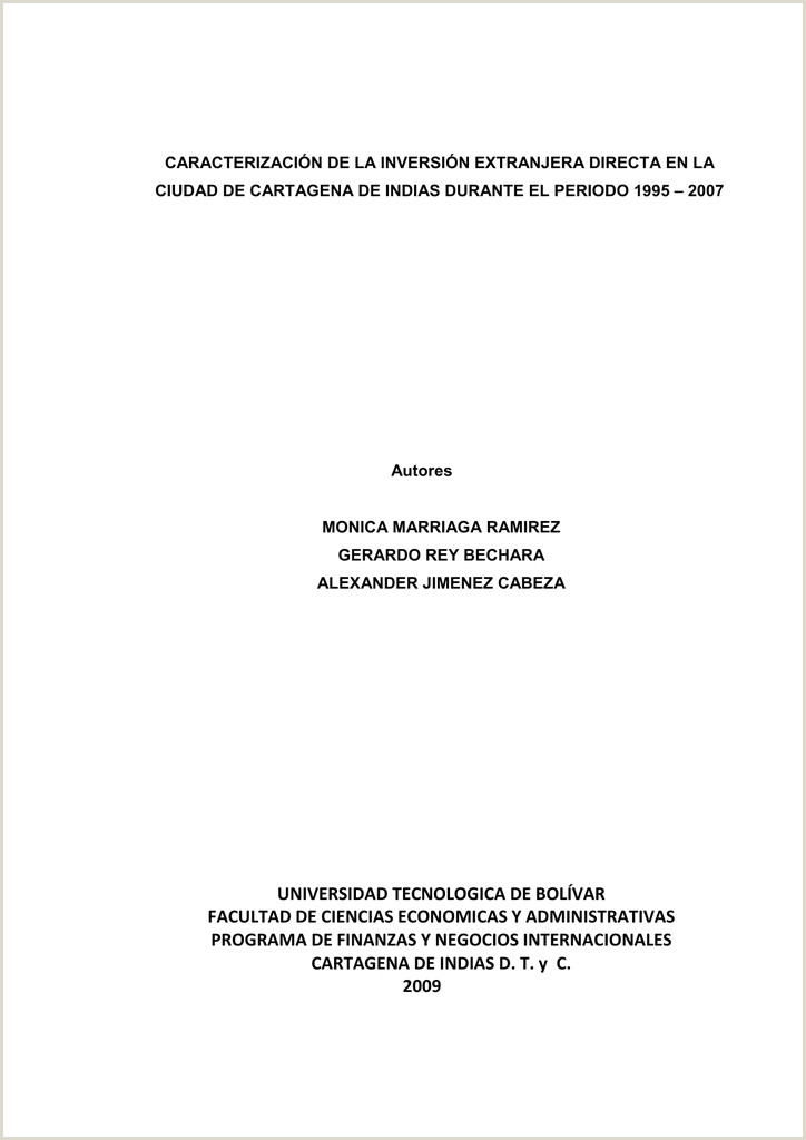 Formato De Hoja De Vida único De Bancolombia Caracterizacion De Inversion Extranjera Directa En