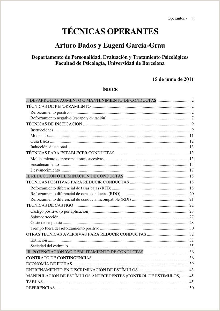 PDF Operantes 1 TéCNICAS OPERANTES