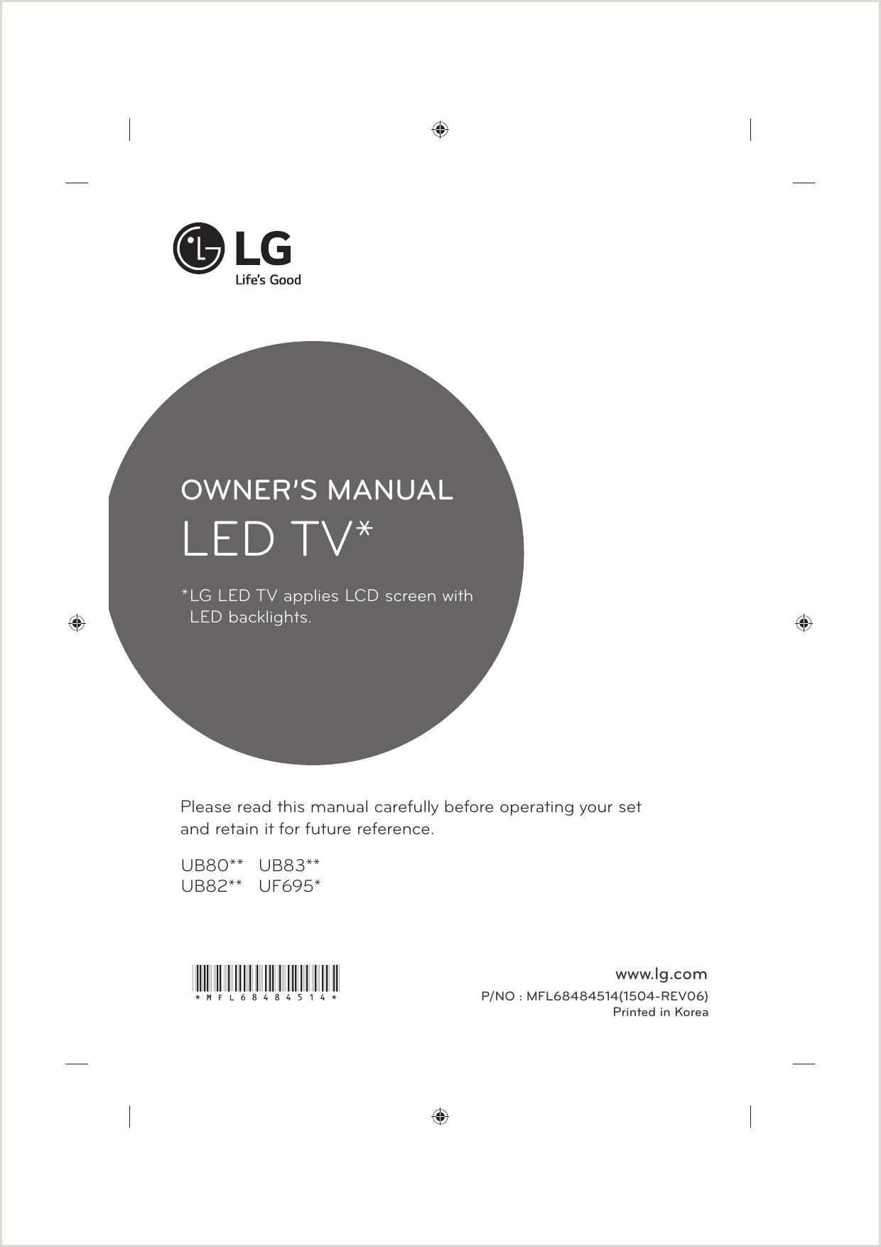 LG 49UF695V 55UF695V Εγχειρίδιο ΧρΠσης