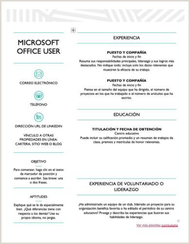 Formato De Un Curriculum Vitae Para Rellenar ▷ Curriculum Vitae Plantilla Word