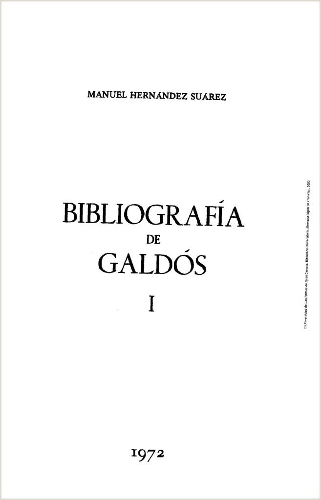 Bibliografa de Gald³s Volumen I