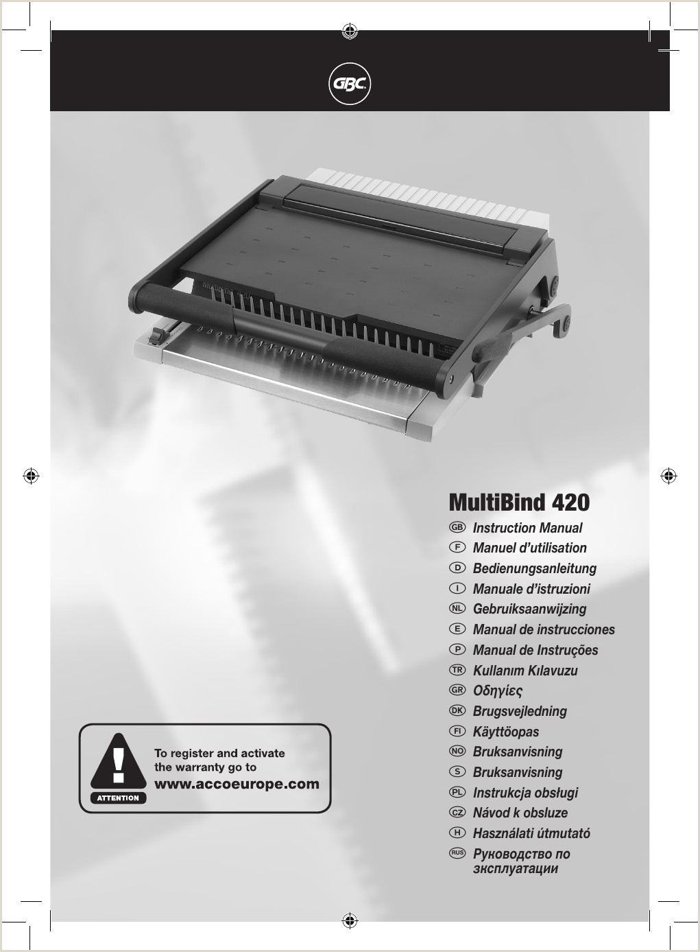 MultiBind 420