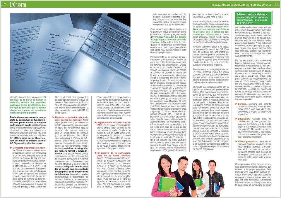 herramientas de bºsqueda de EMPLEO para j³venes PDF