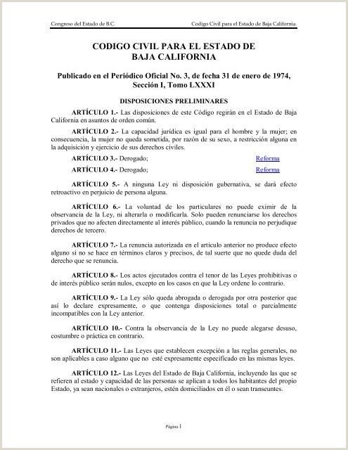 Codigo Civil para el Estado de Baja California