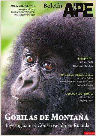 Boletn APE 2015 vol 22 nº1 by Asociaci³n Primatol³gica