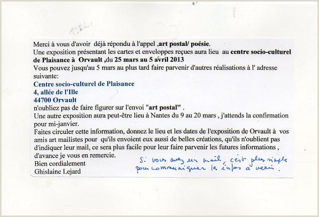 Formato Hoja De Vida Artistica Insomnies Et Art Postal Recu De Ghislaine Lejard France