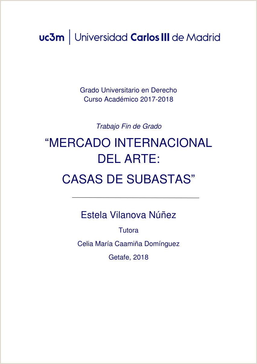 "Formato Hoja De Vida Artistica Pdf ""international Art Market Private International Law"