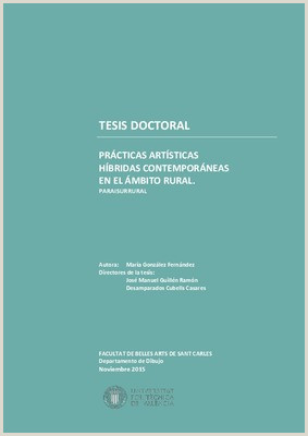 Formato Hoja De Vida Artistica Tesis Doctoral