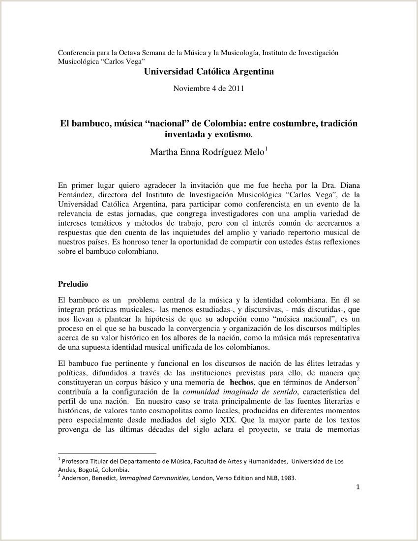 """PDF El bambuco mºsica """" nacional """" de Colombia entre"""