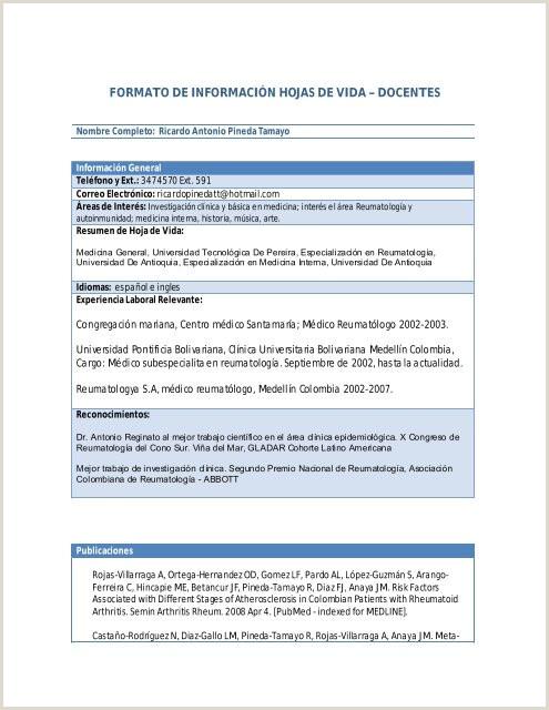 Formato Hoja De Vida Banco Popular formato De Informaci³n Hojas De Vida – Docentes