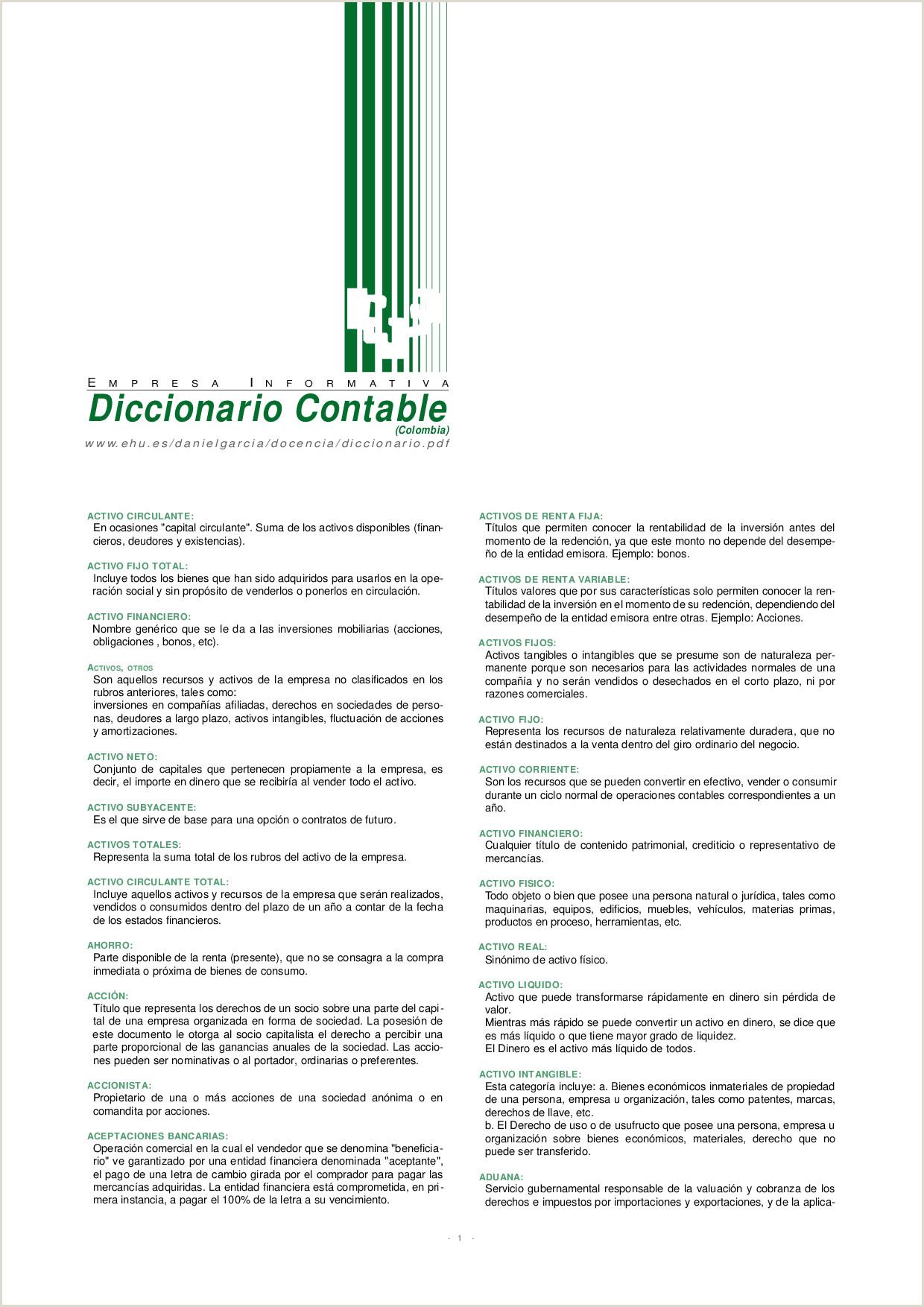 Diccionario contable Docsity