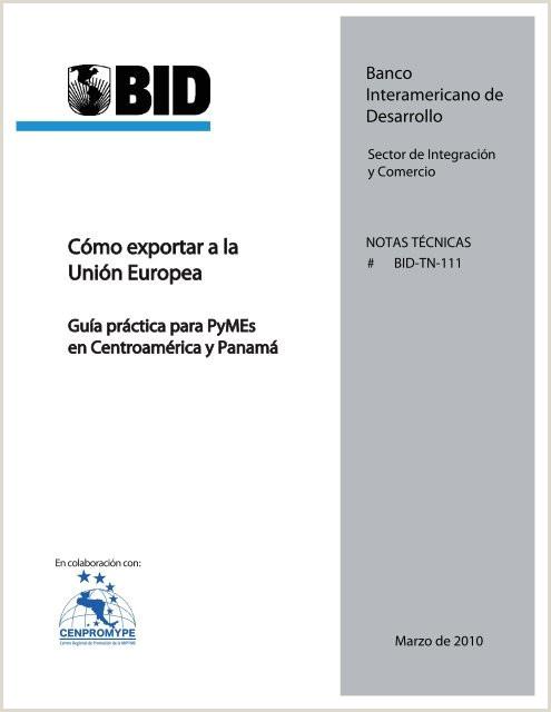 Gua Práctica para PYMES Exportar a la UE Cámara de