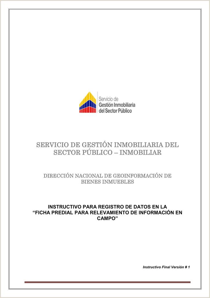 Formato Hoja De Vida Bienes Y Rentas Ley 190 Ficha Predial Para Relevamiento De Informaci³n