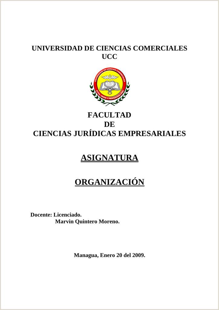 "ASIGNATURA ORGANIZACI""N FACULTAD"