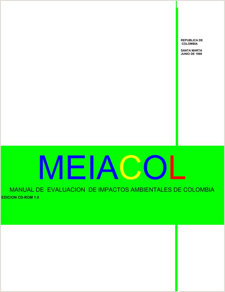 Formato Hoja De Vida Bioagricola Meiacol Manual De Evaluacion De Impactos