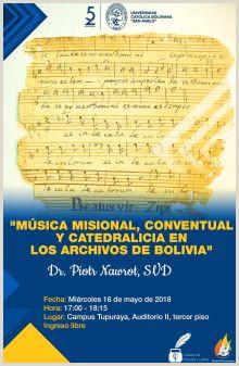 Filosofa y Letras Universidad Cat³lica Boliviana San