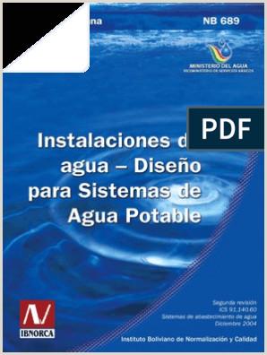 Formato Hoja De Vida Bolivia norma Boliviana 689 De Aguapotable