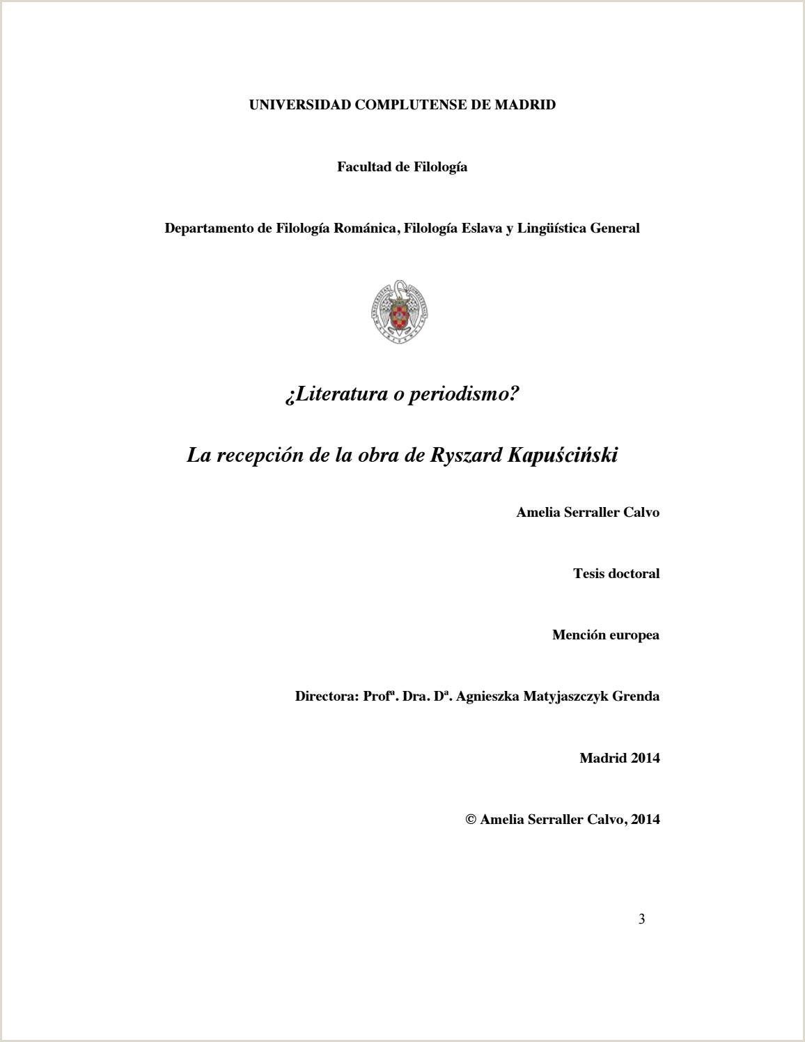 Formato Hoja De Vida Bonita Literatura O Periodismo La Recepci³n De La Obra De Ryzard