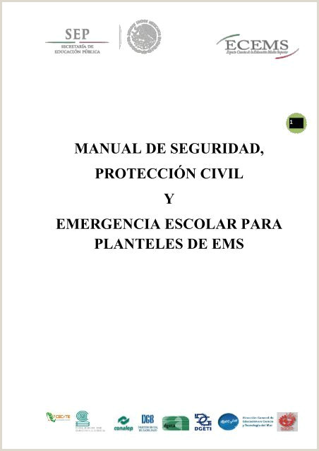 "MANUAL DE SEGURIDAD PROTECCI""N CIVIL Y EMERGENCIA ESCOLAR"