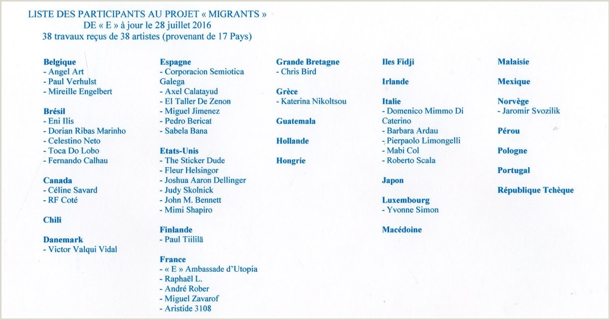 "Formato Hoja De Vida Canadiense Insomnies Et Art Postal Projet Mail Art ""migrants Mineurs"