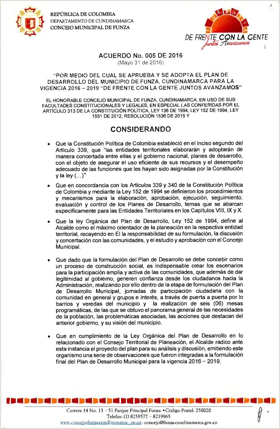 """Formato Hoja De Vida Colombia 2019 Plan De Desarrollo Municipal """"de Frente Con La Gente Juntos"""