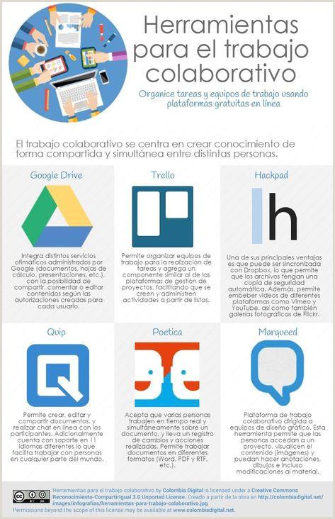 Formato Hoja De Vida Colombia 6 Herramientas Para Trabajo Colaborativo Infografia