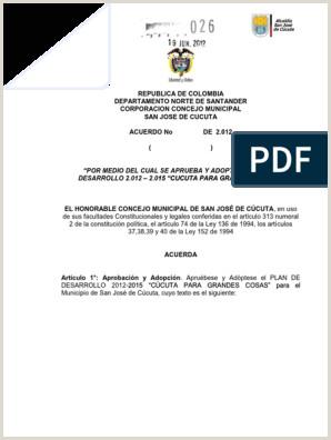 Formato Hoja De Vida Colombia Acuerdo No 026 Del 19 De Junio De 2012 Pdm C Cuta 1