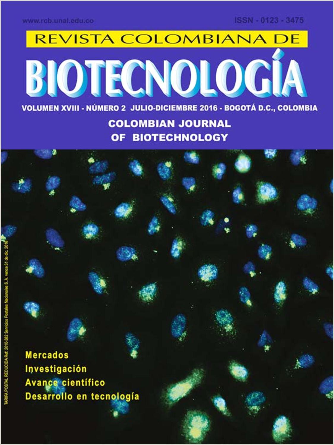 Formato Hoja De Vida Colombia Calaméo Rev Colomb Biotecnol Vol 18 2 2016