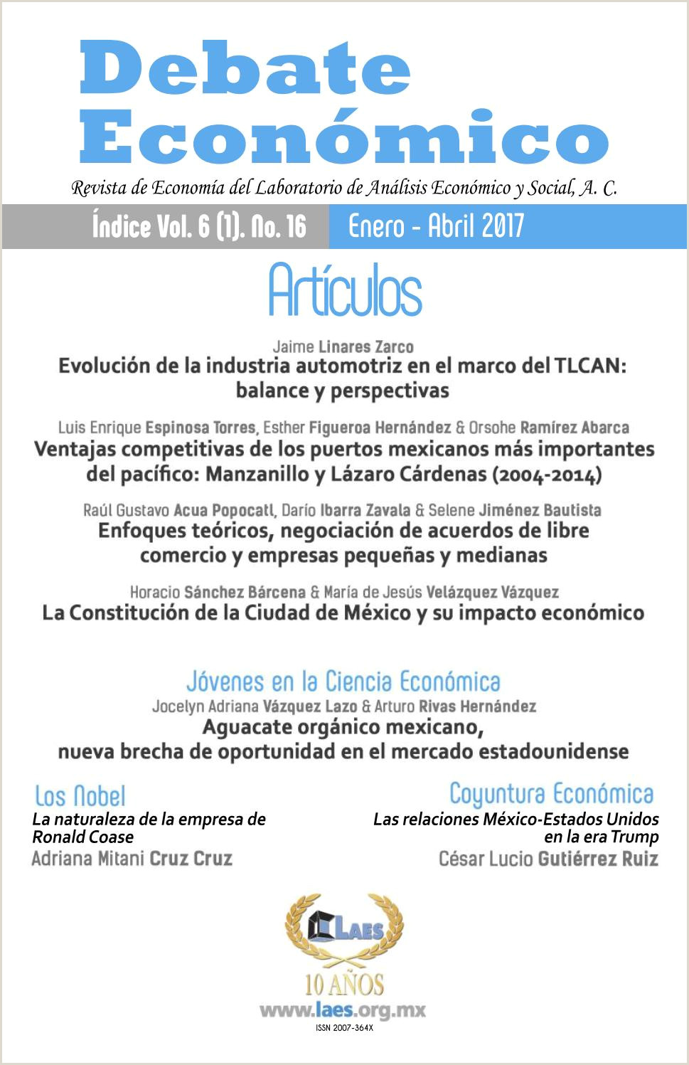Debate Econ³mico No 16 by LAES MEXICO issuu