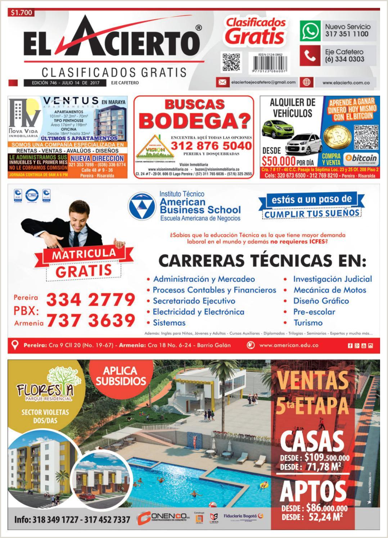 Formato Hoja De Vida Comfenalco Pereira 746 14 De Julio 2017 by El Acierto issuu