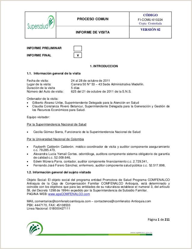 Formato Hoja De Vida Compensar Informe Final Fenalco Antioquia Marzo 2012