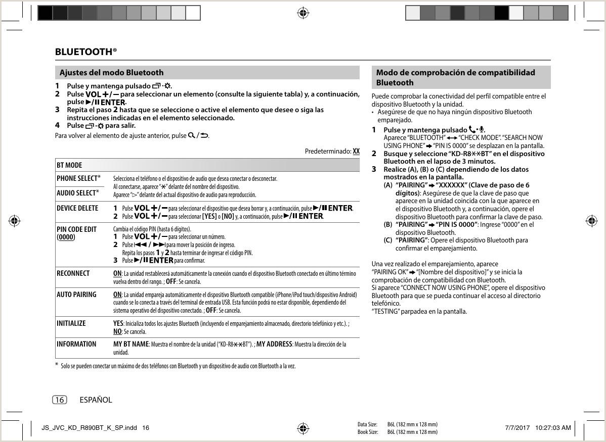 JVC KD R890BT R890BT K User Manual B5A 2151 00