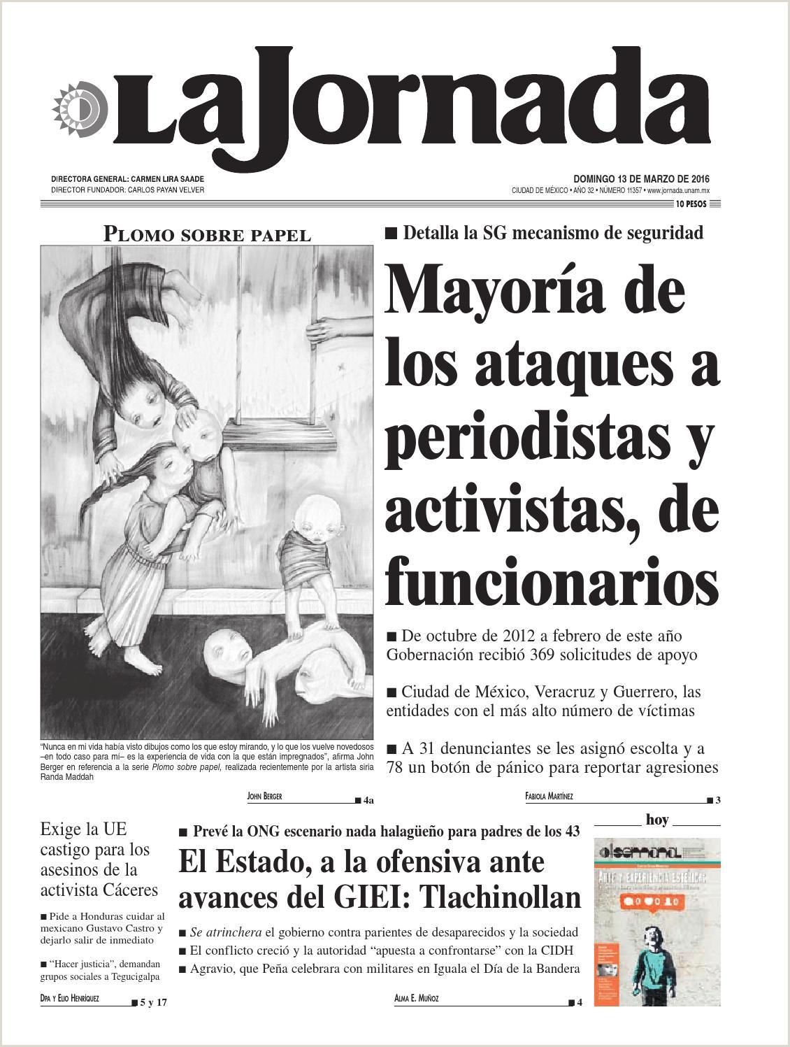 La Jornada 03 13 2016 by La Jornada issuu
