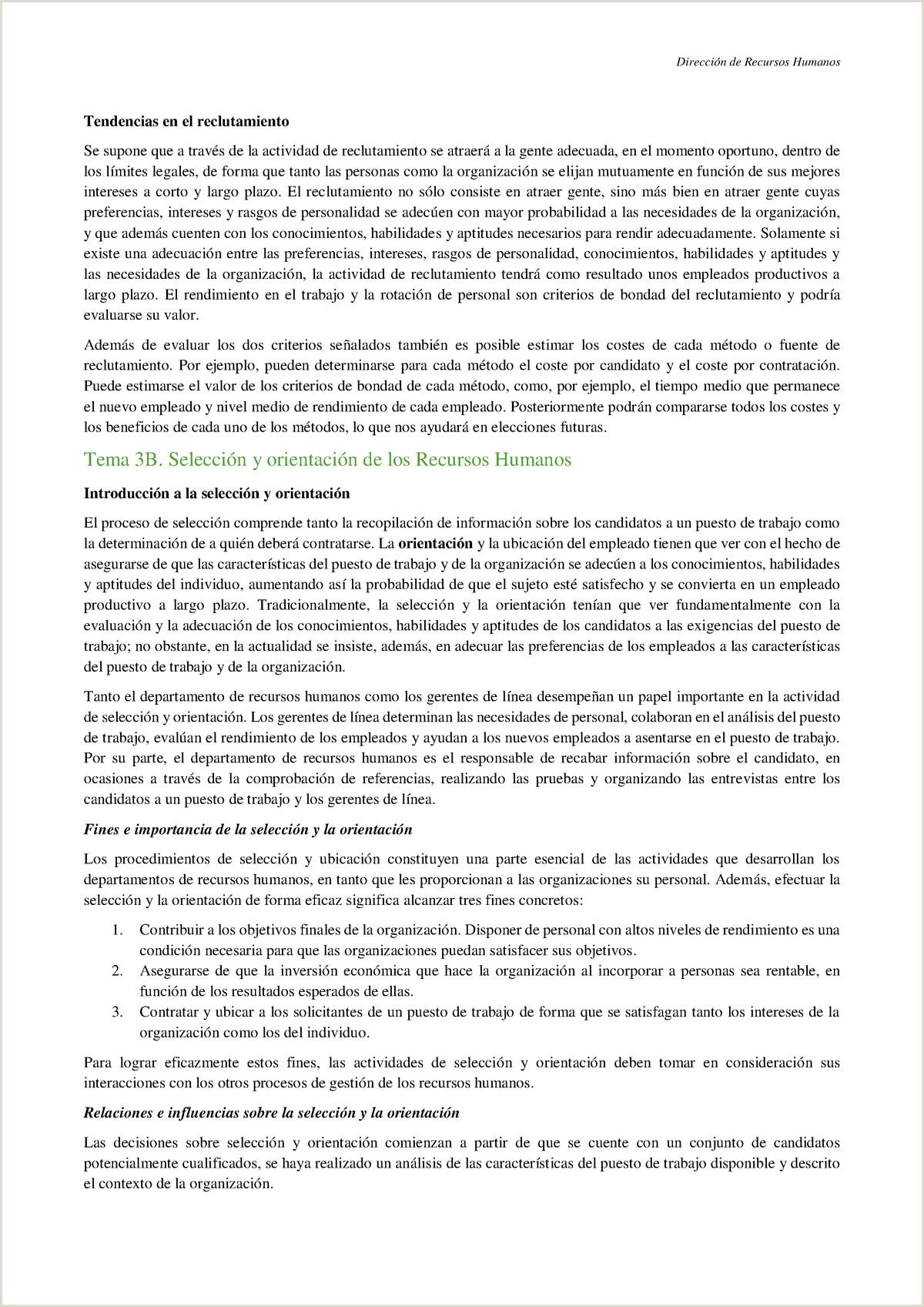 Formato Hoja De Vida Compensar Tema 3b Selecci³n Y orientaci³n De Los Rrhh