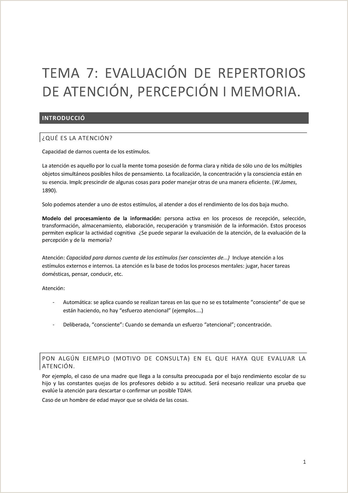 Formato Hoja De Vida Conductor Apunts Del Tema 7 De Avaluaci³ Psicol²gica