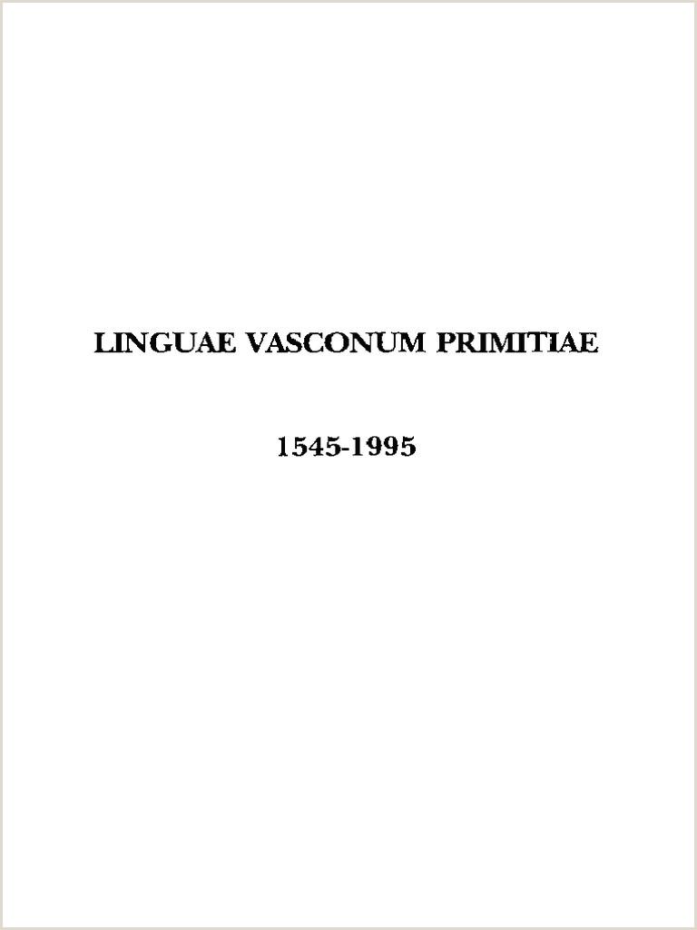 Formato Hoja De Vida Daf Linguae Vasconum Primitiae Bernard Etxepare