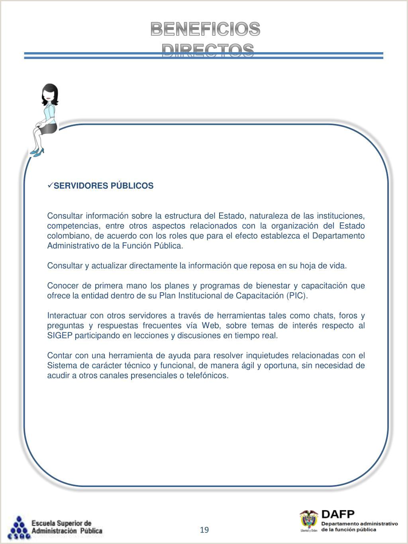 """Formato Hoja De Vida Dafp Ppt Sistema De Informaci""""n Y Gesti""""n Del Empleo Pšblico"""