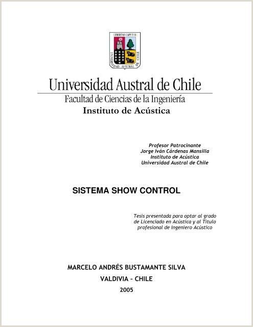 sistema show control Tesis Electr³nicas UACh Universidad