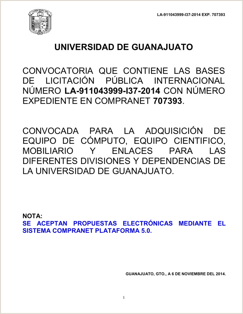 LA I37 2014 Universidad de Guanajuato