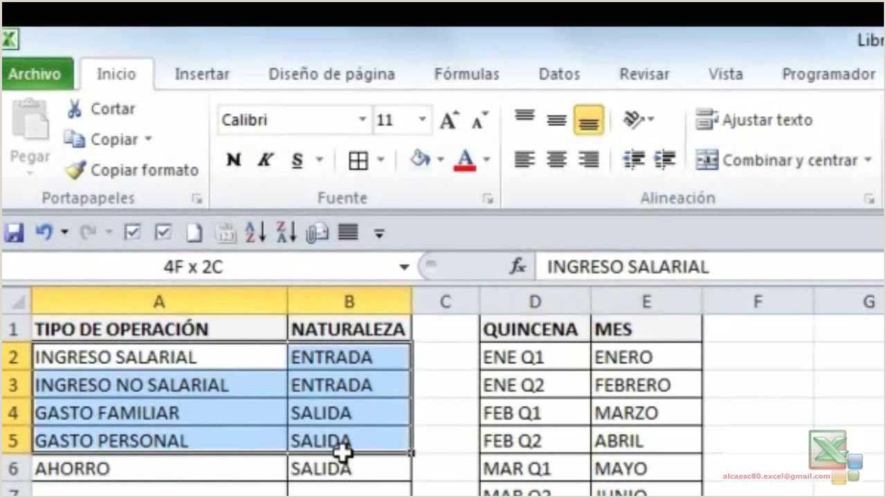 Flujo de Caja Personal en Excel 2010 Productividad