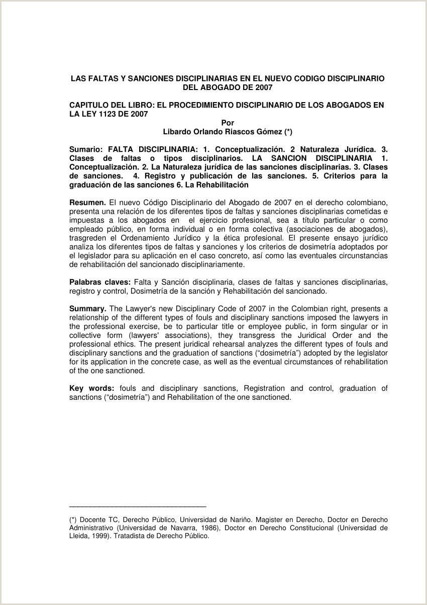 PDF Las faltas y sanciones disciplinarias de los Abogados