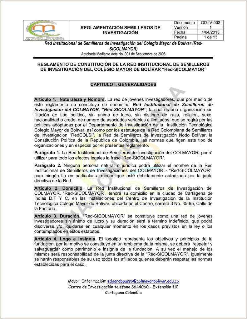 Red De Semilleros Colegio Mayor de Bolvar